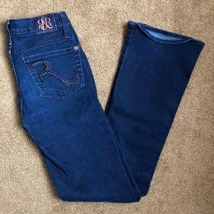 Rock & Republic Kasandra Bootcut Studded Jeans 0S